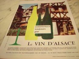 ANCIENNE PUBLICITE VIN  ALSACE 1965 - Alcohols