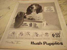 ANCIENNE PUBLICITE CHAUSSURE HUSH PUPPIES 1966 - Vintage Clothes & Linen