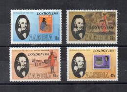 ZAMBIA - 1979 - Centenario Della Morte Di Sir. R. Hill - 4 Valori - Nuovi - Linguellati * - (FDC17389) - Rowland Hill