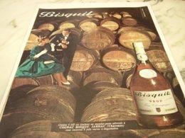 ANCIENNE PUBLICITE COGNAC BISQUIT A JARNAC 1961 - Alcohols