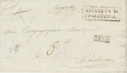 Lombardo-Veneto - 1821 - Lettre De PIOVE ( Voll. N°4 ) + AGENTE CO. DI / CORREZOLA  Per Padova - Italy