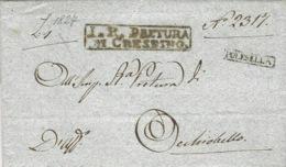 Lombardo-Veneto - 1827 - Lettre De POLESELLA  ( Voll. N°4 )  Per Ochiobello - Italy