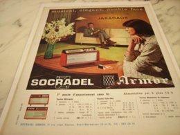 ANCIENNE   PUBLICITE MUSICAL RADIO SOCRADEL ARMOR 1961 - Music & Instruments
