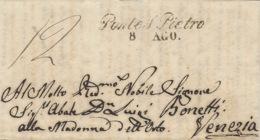 Lombardo-Veneto - 1846 - Lettre De Ponte S Pietro / 8 AGO  Per Venezia - Italy