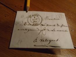 1835-PAS DE CALAIS- Lettre  TAXEE - Départ St OMER  + Decime Rural +Cursive FAUQUEMBERG IND/10- 5 Photos - 1801-1848: Vorläufer XIX