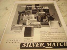 ANCIENNE PUBLICITE PLAISIR BRIQUET SILVER MATCH 1961 - Raucherutensilien (ausser Tabak)