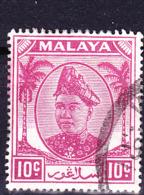 Malaiische Staaten V - Perlis - Sultan Von Kedah (MiNr: 15) 1951 - Gest Used Obl - Sabah