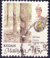 Malaiische Staaten V - Kedah - Naturkautschuk (MiNr: 141) 1986 - Gest Used Obl - Kedah