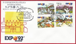 España. Spain. 1989. IV Exposicion Filatelica RUMBO AL 92. EXPO 92 - Marcofilia - EMA ( Maquina De Huellas A Franquear)