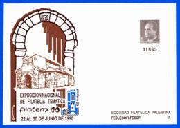 España. Spain. 1990. Postal Stationery. Entero Postal. Exposicion Filatelica Tematica. FILATEM '90. Palencia - Enteros Postales