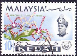 Malaiische Staaten V - Kedah - Orchidee (Paphiopedilum Niveum) (MiNr: 108) 1965 - Gest Used Obl - Kedah
