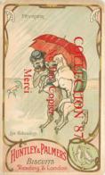 ☺♦♦ PUBLICITE HUNTLEY & PALMERS BISCUITS - CHIENS HUMANISES - LES GIBOULETS < POISSONS SIGNE ZODIAQUE < ILLUSTRATEUR - Publicité