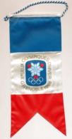 Oriflamme Drapeau Officiel Des X° Jeux Olympiques D'Hiver De Grenoble 1968 Olympic Games 68 - Jeux Olympiques