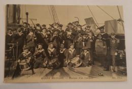 Bateaux De Guerre - Marine Militaire - Marins - Musique D'un Cuirassé - Tambours, Trompettes, Tuba, Clarinette... - Guerra