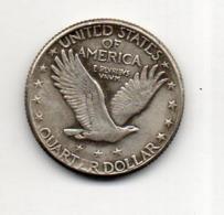 USA : 1/4 Dollar 1918 - 1916-1930: Standing Liberty (Liberté Debout)