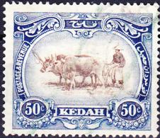 Malaiische Staaten V - Kedah - Oschengespann (MiNr: 32) 1921 - Gest Used Obl - Kedah