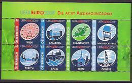 2008 Austria Österreich Mi. 2697-2704 **MNH UEFA EURO 2008 - Blocks & Kleinbögen