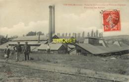 53 Voutré, Usine De Carbonisation Et Produits Chimiques, Hommes Et Enfants Au 1er Plan, 1908, Visuel Pas Courant - France