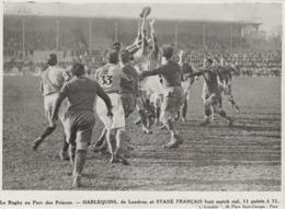 .PHOTO PRESSE  17,  Cm  X  12,2 Cm   PARC DES PRINCES  HARLEQUINS ET STADE FRANCAIS 11-11 - Rugby