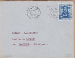 ENVELOPPE TIMBRE 1939 GENEVE A BATOGNE VOIR PHOTOS - Schweiz