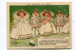 Chromo Les Contes De Fée La Belle Au Bois Dormant :  Illustrateur  Gerbault Pub Ricqlès  A  VOIR  !!!!!!! - Trade Cards
