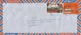 Guyana 1987 Providence Easter Overprint 120c On 6c Steamship 30c Cover - Guyana (1966-...)