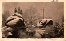 42 - NOIRETABLE - N.-D. De L'Hermitage - Les Rochers De Peyrotine Sous La Neige - Noiretable
