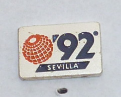 Pin's 1992, EXPOSITION UNIVERSELLE DE SEVILLE E - Steden