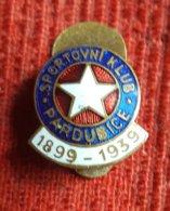 Soccer / Football - Czech -  Sportovní Klub Pardubice 1899 - 1939 - Enamel Buttonhole / Badge / Pin - Football