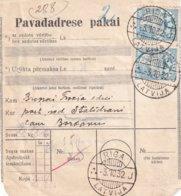 LETTONIE 1932 COLIS POSTAL DE RIGA - Lettonie