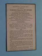 DP Ambroise-Maurice DE KEYZER ( Van Doorsselaere ) Etterbeek 26 April 1888 - Lokeren 12 Nov 1954 ( Zie Foto's ) ! - Overlijden