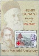 Beuquia Grenadines Saint Vincent  Red Cross Croix Rouge  Henry DUNANT  MNH - Nobel Prize Laureates
