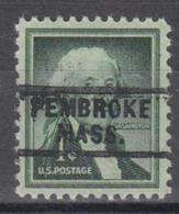 USA Precancel Vorausentwertung Preo, Locals Massachusetts, Pembroke 729 - Etats-Unis