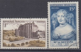 +France 1950. Yvert 873-74. Cancelled - France
