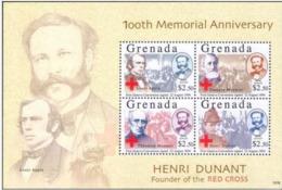 Grenade  Red Cross Croix Rouge  Henry DUNANT  MNH - Nobel Prize Laureates