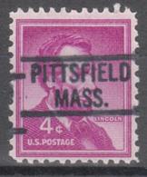 USA Precancel Vorausentwertung Preo, Locals Massachusetts, Pittsfield 819 - United States