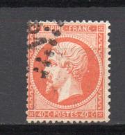 - France N° 23 Oblitéré Losange GC - 40 C. Orange Napoléon III 1862 - Cote 15 EUR - - 1862 Napoléon III.