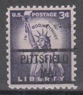 USA Precancel Vorausentwertung Preo, Locals Massachusetts, Pittsfield 841 - Etats-Unis