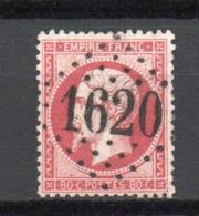 - France N° 24 Oblitéré Losange GC 1620 - 80 C. Rose Napoléon III 1862 - Cote 60 EUR - - 1862 Napoléon III.
