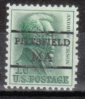 USA Precancel Vorausentwertung Preo, Locals Massachusetts, Pittsfield L-6 TS - Etats-Unis