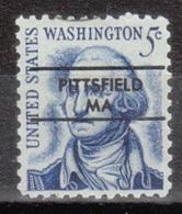 USA Precancel Vorausentwertung Preo, Locals Massachusetts, Pittsfield L-7 TS - Etats-Unis