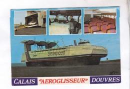 CPM AEROGLISSEUR CALAIS DOUVRES, MULTIVUES - Aéroglisseurs