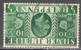 Great Britain 1935 King George V Silver Jubilee - Mi.189z  Wmk Inverted  - Used - Oblitérés