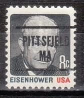 USA Precancel Vorausentwertung Preo, Locals Massachusetts, Pittsfield L-9 TS - Etats-Unis