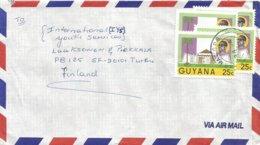 Guyana 1988 Georgetown President Burnham 25c Cover - Guyana (1966-...)