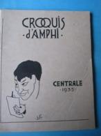 Croquis D'Amphi Ecole Centrale 1935 Caricatures - Arte