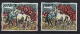 VARIETE  -  1978  -   YVES  BRAYER  N° 2029 A ** ( 2026 ) ,  Herbe Jaune Sans La Couleur Orange  + 1 Normal . - Errors & Oddities