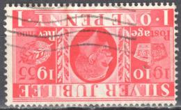 Great Britain 1935 King George V Silver Jubilee - Mi.190z  Wmk Inverted  - Used - Oblitérés