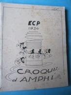 Croquis D'Amphi Ecole Centrale 1934 Caricatures - Arte
