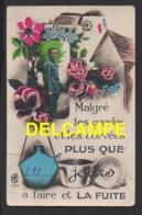 DD / MILITARIA / HUMORISTIQUES SUR LE THÈME DE LA QUILLE : MALGRÉ LES GARDES ET LES CORVÉES PLUS QUE X JOURS ... / 1933 - Humour
